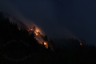 Wind swept: Dilly Cliff fire 2017